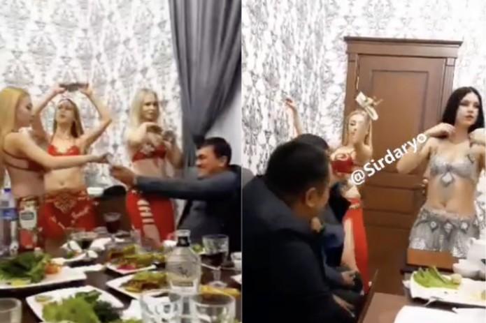 Хокимият Сырдарьинской области пригрозил увольнением чиновникам за видеозапись с танцовщицами в ресторане