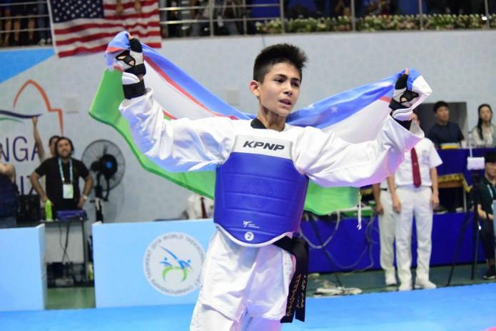 Таэквондист Зафарбек Каримов завоевал золотую медаль ЧМ