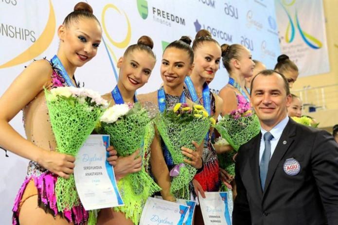 Узбекским гимнасткам вручили золотые медали чемпионата Азии 2017 года