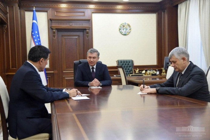 Шавкат Мирзиёев принял Генерального секретаря ШОС Владимира Норова