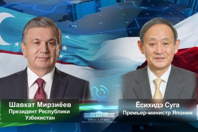 Президент Узбекистана и Премьер-министр Японии обсудили перспективы сотрудничества