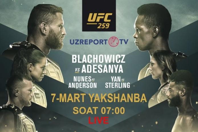 UZREPORT TV приобрел права на трансляцию турнира UFC 259