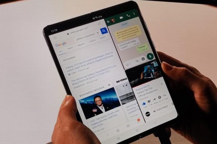 Samsung показала первый сгибающийся смартфон почти за $2 тысячи