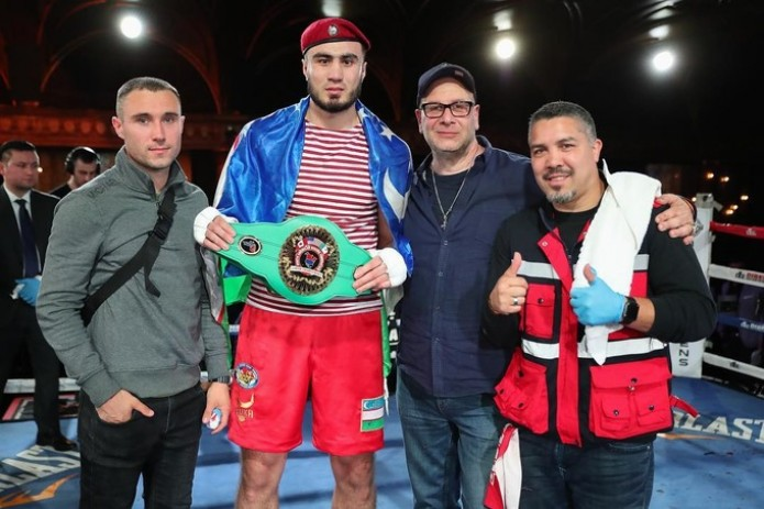 "Баходир Жалолов завоевал пояс ""NABF Junior Heavyweight Title"""