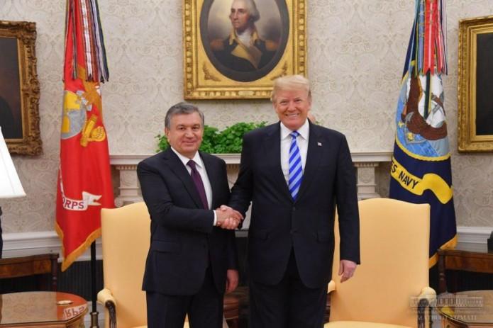 Президенты Узбекистана и США провели встречу в Белом доме