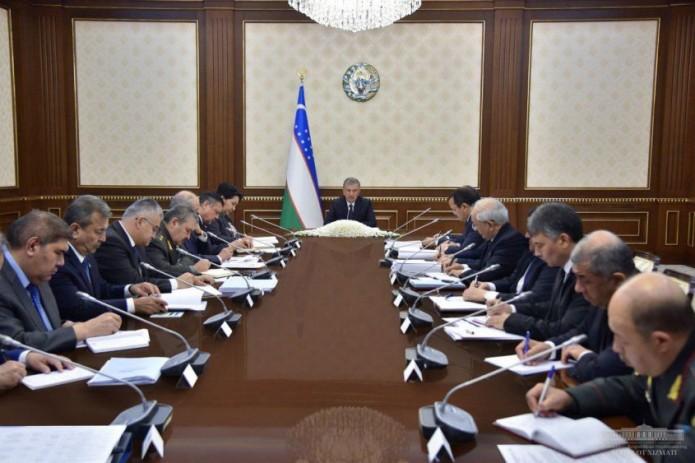 Президент провел заседание Совета безопасности