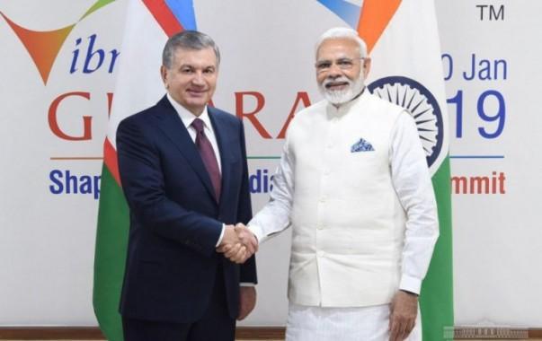 Президент Шавкат Мирзиёев встретился с Премьер-министром Индии