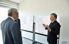 Президент ознакомился с работой по созданию водоемов в дельте реки Амударьи