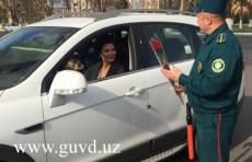 Инспекторы УБДД поздравили женщин-водителей с 8 марта
