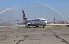 В Самарканде состоялась встреча первого авиарейса из Стамбула