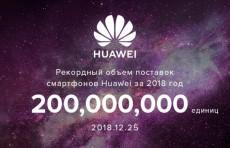 Рекорд: Huawei поставила 200 млн. смартфонов в 2018 году