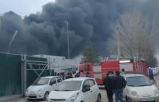 На месте строительства Центра исламской цивилизации в Ташкенте произошел пожар (Видео)