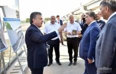 Президент ознакомился со строительством Сергелийской ветки метрополитена