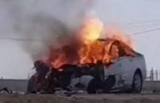 Четыре человека сгорели заживо в результате столкновения Lacetti и Isuzu в Кашкадарье