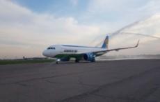 «Узбекистон хаво йуллари» получила новейший самолет Airbus A320neo