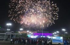 Празднование Дня памяти и почестей в Ташкенте завершилось красочным салютом